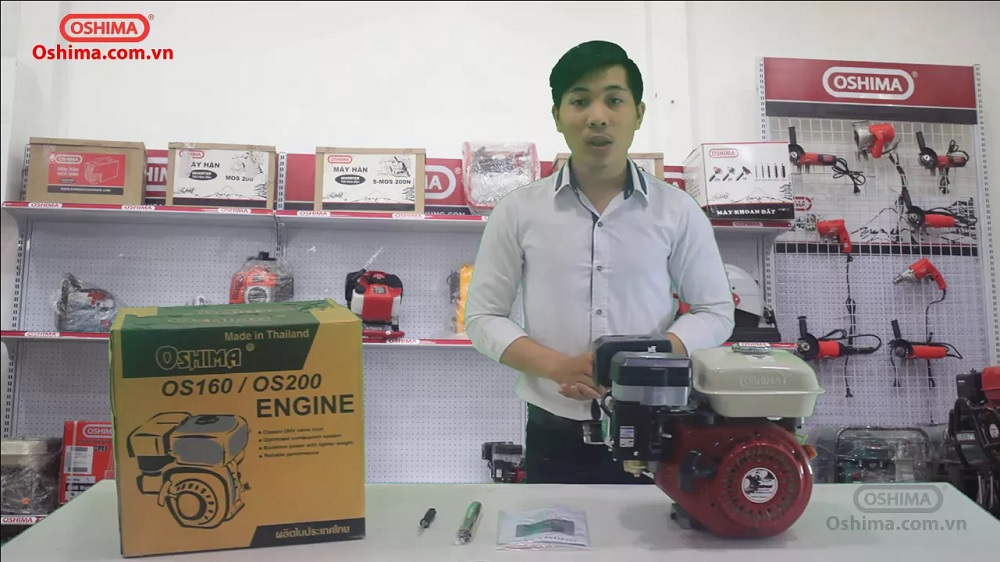 Video Máy nổ OSHIMA New OS200-R 6.5HP
